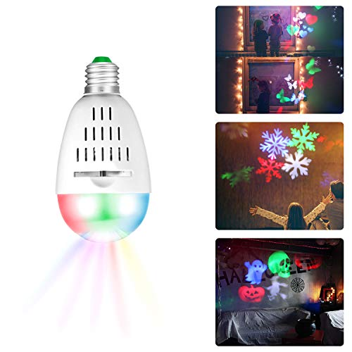 Zeonetak Halloween Night Light Projector Sleep Soothing Baby Room Nursery Lamp Soft Lighting for Home Party Wedding Christmas Decoration(Projection Area 50-150 sq ft 6 Patterns)]()