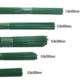 Amazon.de: 100g Blumendraht grün lackiert Steckdraht Basteldraht ...