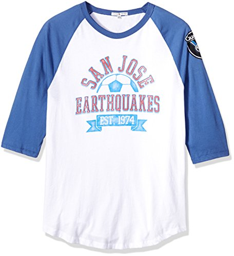 - Junk Food MLS San Jose Earthquakes Men's Long Sleeve Raglan Tee, Large, Ew/Li