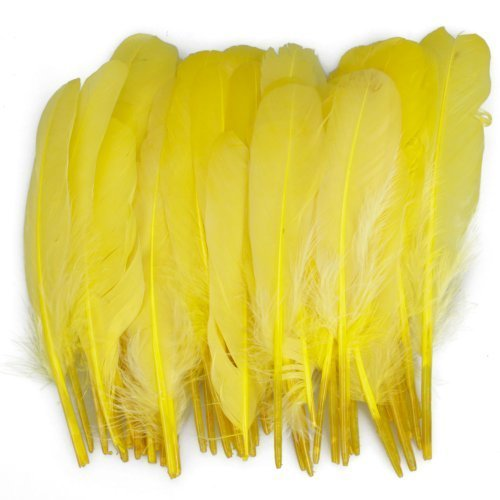 50pcs-home-decor-yellow-duck-feather
