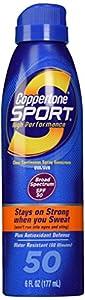 Coppertone Sport Clear Continuous Spray SPF 50, 6 oz