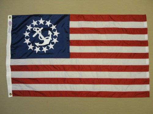 Used, Annin U.S. Yacht Ensign 30 x 48-Inch Sewn Nyl-Glo Flag for sale  Delivered anywhere in USA