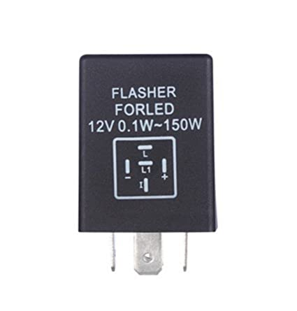 FOORDAY 5-Pin LED Electronic Flasher Relay Used for LED Turn Signal Light Bulbs
