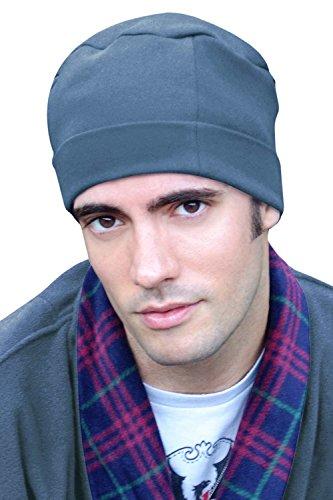 Mens Sleep Cap - 100% Cotton Night Cap for Men - Sleeping Hat Medium Denim