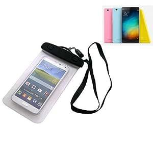 Universal Bolsa de playa / impermeable para lluvia / cubierta de nieve de 16 cm x 10 cm, por ejemplo, para Xiaomi Mi 4i. Cubierta protectora transparente contra el polvo, la arena, la lluvia y aguas poco profundas para su teléfono celular, Smartphone, GPS, GPS, monederos, dinero en efectivo, objetos de valor. Sensible al tacto material. Su Xiaomi Mi 4i se mantiene plenamente operativo, mientras que en el caso. Dimensiones: 16 cm x 10 cm | protecion Beachbag caso protector proteger la playa S