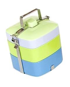 Vivo Square Bento Box, Blues and Greens