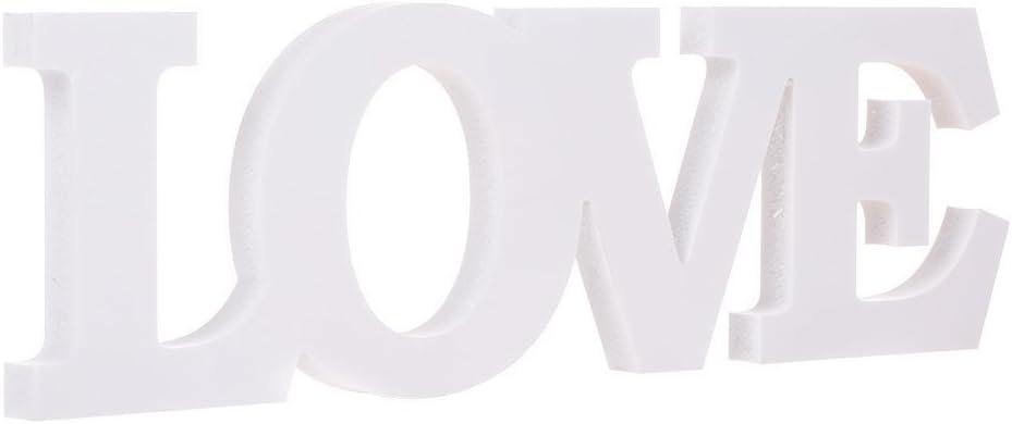 Materiali Per Hobby Creativi Decorazioni Per Matrimonio Posizionabili In Verticale Colore Bianco Love Graziose Tavolo Eleganti Lettere In Legno Naturale Che Formano La Scritta Mr Mrs Casa E Cucina Laaldeasanicolas Es