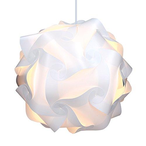 kwmobile Lámpara puzzle DIY 30 piezas – Lámpara de techo blanca con cable de 90CM y fijación E27 – Iluminación y…