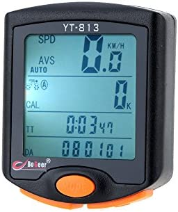 Digital LCD Bicycle Computer Odometer Bike Speedometer Stopwatch Thermometer