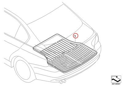 (BMW Genuine Rear Trunk Floor Cargo Tray E46 Wagon Black 323i 325i 325xi)