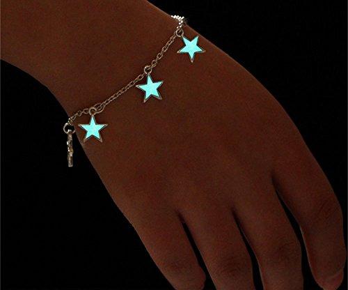 Blue Stones Blue Luminous Star Pendant Bracelets For Women 2017 New Pretty Statement Bracelet Bangles pulseira feminina Party Jewelry