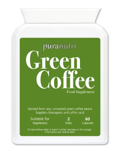 PURANUTRI Pure Green Coffee Extract 5000mg |~ON SPECIAL OFFER~ Slimming; Diet; Weight Loss; | UK Made Premium GMP Supplement Suitable for Vegetarians. by Health (Image #1)