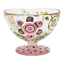 Lolita Hand Painted Glass Sundae Bowl, Bff
