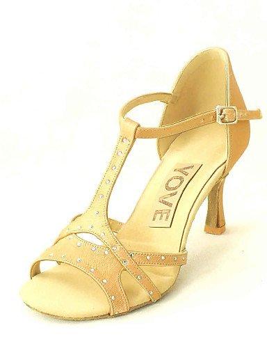 Women's Salsa Fuchsia Dance White Satin Shoes Yellow Red Customized Almond Pink ShangYi Purple Heel Customizable Blue Latin Black 5axq1EWnXw