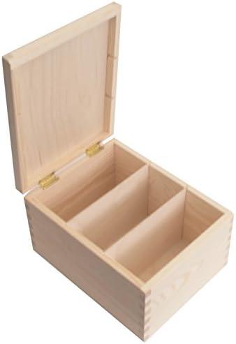 SearchBox Caja de Almacenamiento Rectangular de Madera con ...