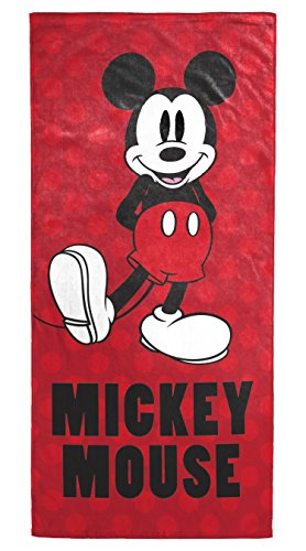 "Disney Mickey Mouse Polka Dots Soft Cotton 28"" x 58"" Bath, Pool, Beach Towel"
