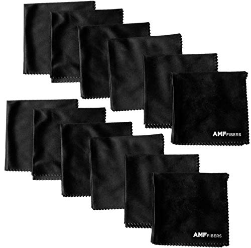 Microfiber Cleaning Cloth - for All LCD Screens, iPhone, iPad, Tablet, Camera Lenses, Glasses & More ... (12 Pack)