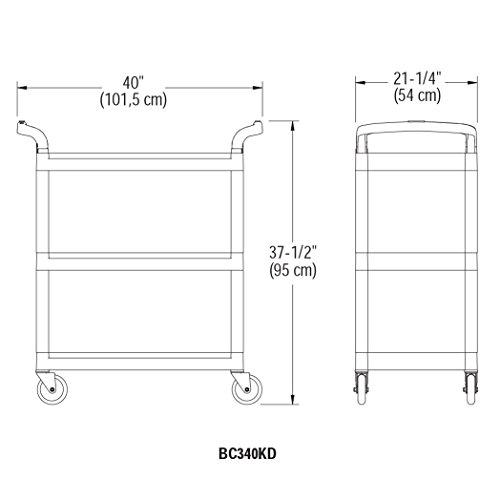Amazon.com: Cambro bc340kd480 Speckled Gray 3 Shelf ...