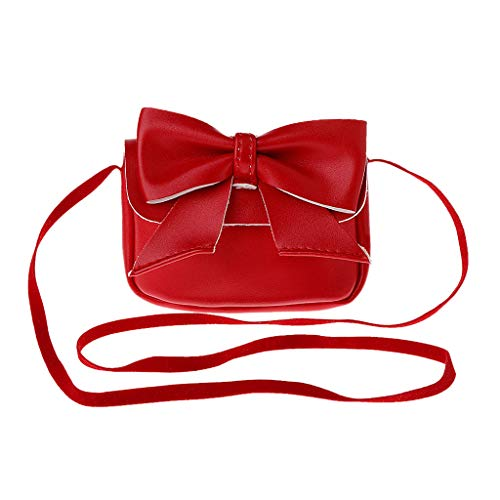 à Sac Red Senoow Petit Portefeuille Lovely Crossbody Messenger Girl Kids Bandoulière Bowknot Purses w7xxY0aqWB