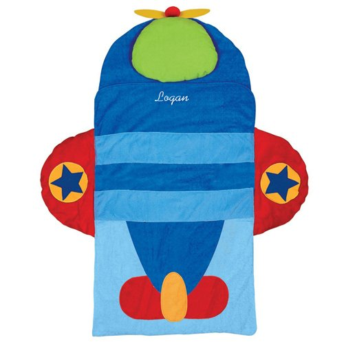 Stephen Joseph Personalized Nap Mat, Airplane, Name - Stephen Joseph Nap Mat