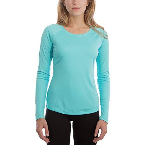 Vapor Apparel Women's UPF 50+ UV Sun Protection Performance Long Sleeve T-Shirt Medium Water Blue ()