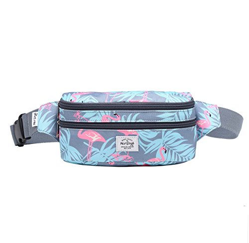 521s Fashion Waist Bag Cute Fanny Pack | 8.0''x2.5''x4.3'' | Millennial Flamingos by hotstyle