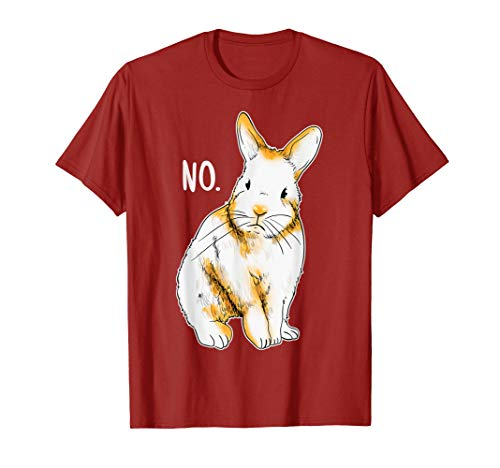Disapproving Rabbit Funny Animals Shirt Rabbit Shirt ()