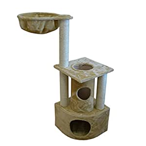 Amazon.com : Iconic Pet Peek-a-Boo Cat Tree with Sisal ...