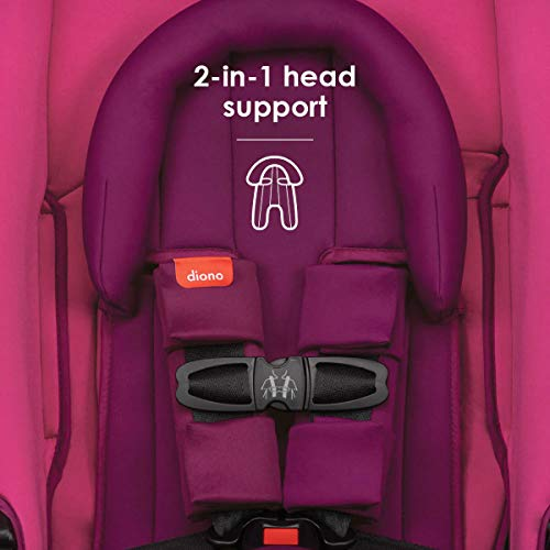 41%2BPKqNAR3L - Diono Radian 3RX 3-in-1 Rear And Forward Facing Convertible Car Seat, Head Support Infant Insert, 10 Years 1 Car Seat Ultimate Safety And Protection, Slim Design - Fits 3 Across, Pink Blossom