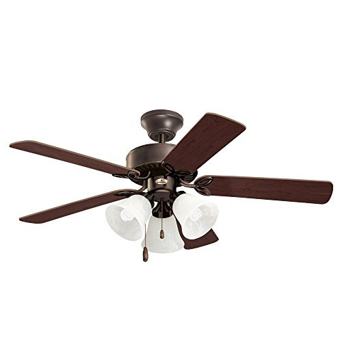 Emerson Ceiling Fans CF710ORB Pro Series II Low Profile Hugger Ceiling Fan With Light, 42-Inch Blades, Oil Rubbed Bronze Finish by Emerson