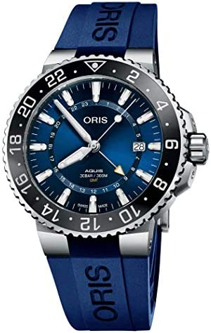Aquis GMT Data Quadrante Blu 43.5mm Orologio