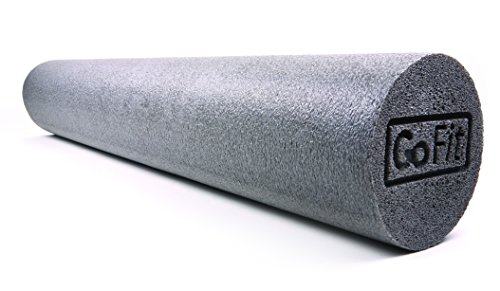 GoFit 36-Inch Foam Roller with Training Manual, Gray For Sale