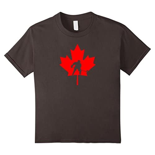 Canada Maple Leaf T-shirt Canadian Hockey Player Fan Tee