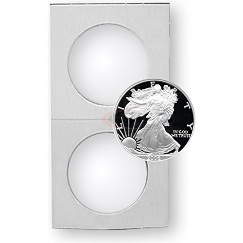 400 Silver Eagle - Crown 2.5 X 2.5 Mylar and Cardboard Coin Holders