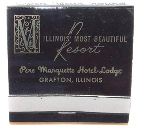 Resorts Hotels Lodge - Pere Marquette Hotel-Lodge Resort Advertising Matchbook - Grafton, Illinois