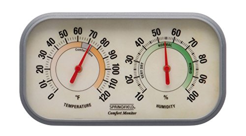 - Springfield Color Track Humidity Meter and Thermometer