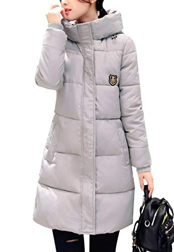 Chemine Transition Confortables Manteau Warm Manteau Patch Hiver Capuchon Long Rugueux Costume Longues Fit Manches Doudoune Grau Outdoor Femme Parka Stepp Casual SaqOZ