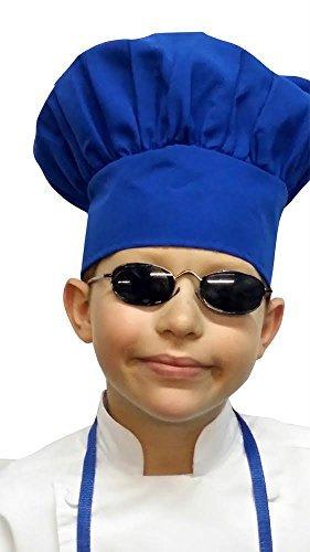 Chefskin Chef Mushroom Hat Kids Children Blue Adjustable