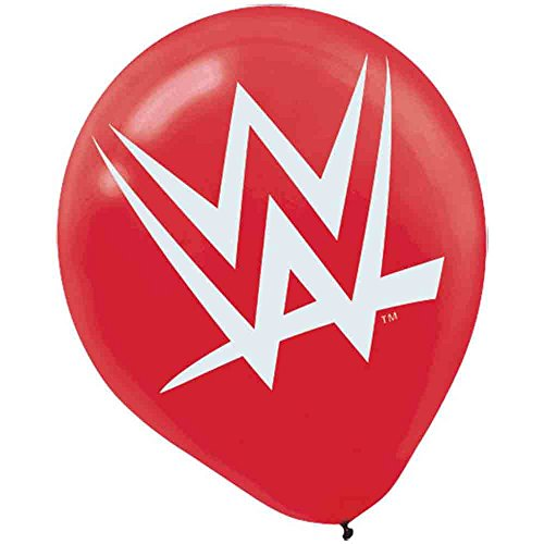 WWE Party Latex Balloon 6ct [Contains 5 Manufacturer Retail Unit(s) Per Amazon Combined Package Sales Unit] - SKU# 111467 by Amscan