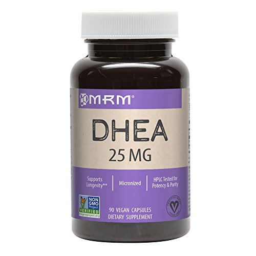 MRM DHEA Nutrition Supplements, 25 mg, 90 Count, Vegetarian Capsules, Packaging May Vary