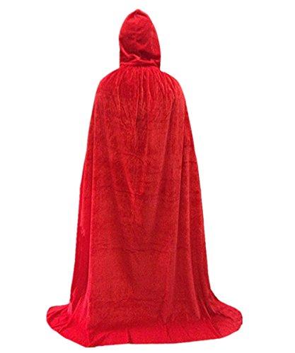 Hooded Cloak Top Quality Cape Play Costume Red Velvet Plus size (Modern Vampire Girl Costume)