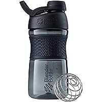 BlenderBottle SportMixer Twist Cap Tritan Grip Shaker Bottle, 20-Ounce, Black