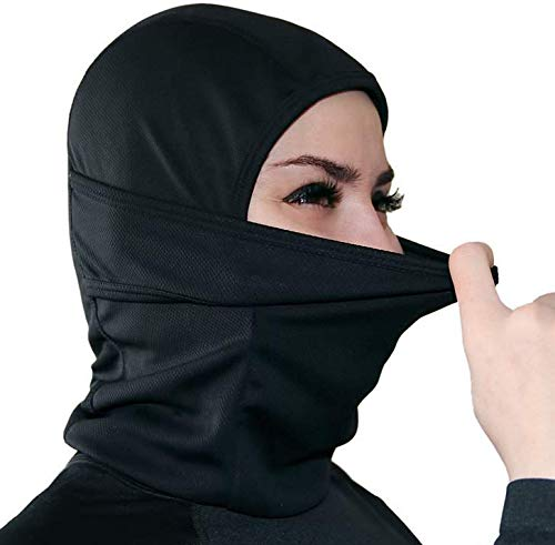 Loisleila Windproof Balaclava BLCOOL Ski Mask Neck Warmer Cold Weather Face Mask Dust Proof Anti-Sun Suitable for Women Men Youth Skiing Motorcycle Bicycle Climbing Running Black