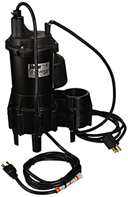 Simer 2961 4/10 HP Submersible Sewage Pump
