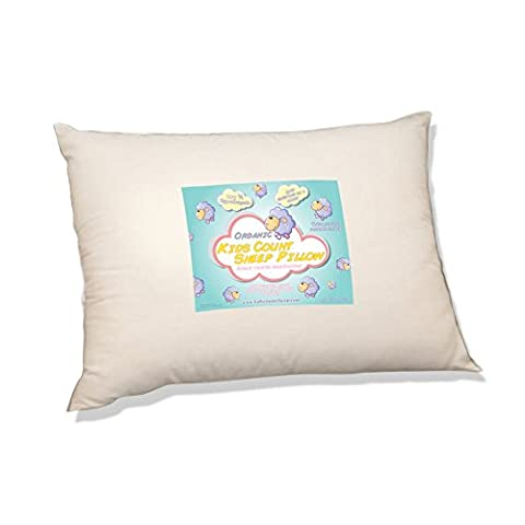 Organic Toddler Pillow by Kids Count Sheep. Hypoallergenic Washable. Pediatrician and Chiropractor Recommended for Children. (13 X 18 X 3) Wonderful Travel Pillow in the Car, Plane, Sleepovers and Nap Time. (Ages 2 and Up) Made in the (Symphony Membrane)