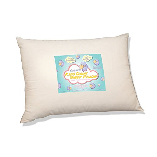 Organic Toddler Pillow by Kids Count Sheep. Hypoallergenic Washable. Pediatrician and Chiropractor Recommended for Children. (13 X 18 X 3) Wonderful Travel Pillow in the Car, Plane, Sleepovers and Nap Time. (Ages 2 and Up) Made in the USA. by HKH Family Company