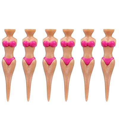NUOLUX 6pcs Bikini Lady Girl Golf Tees Divot Tools (Violet)