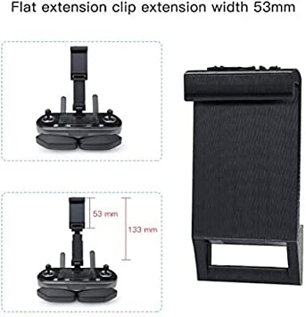 UQstyle Mavic Air 2 Tablet Clip Mount Holder Extender Kit Compatible with DJI Mavic Air 2 Drone Controllers Removeable Extended Stand Accessory
