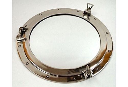 Aluminum Chrome Finish Porthole Mirror 24
