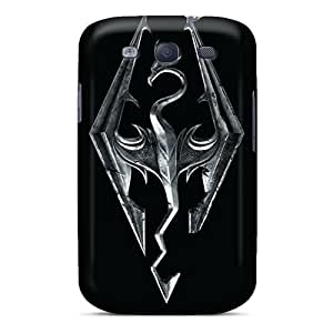 Shock Absorbent Hard Phone Covers For Samsung Galaxy S3 With Allow Personal Design Fashion Skyrim Pattern PhilHolmes